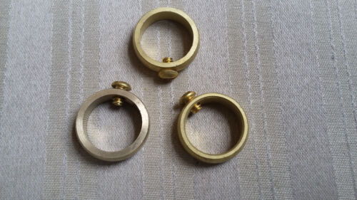 """Weathervane Brass Retainer Ring with Set Screw for 3//4/"""" Rods Lot of 3"""