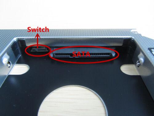 2nd 12.7mm SATA Hard Drive SSD Caddy Adapter for Dell Latitude E5430 E5510 E5530