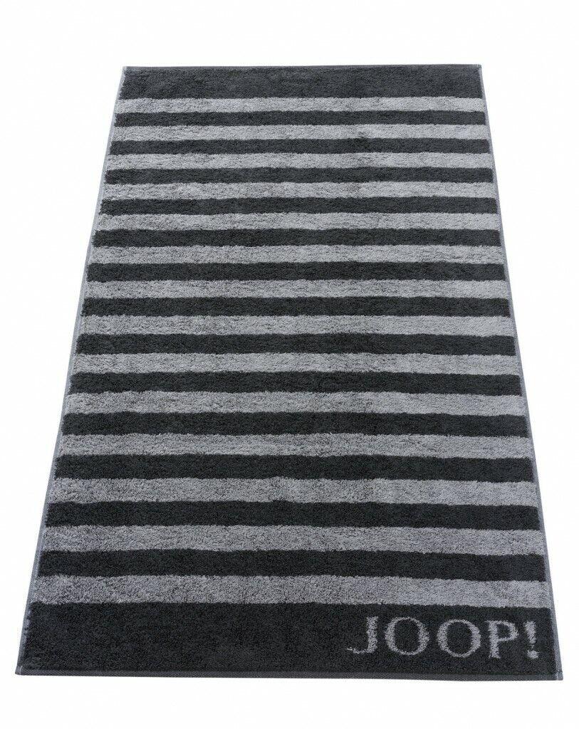 JOOP  Premium Handtuch Duschtuch Stripes schwarz Frottier Saunatuch Streifen     Feine Verarbeitung