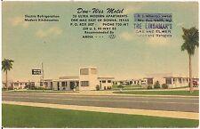 Don-Wes Motel in East of Donna TX Roadside Postcard