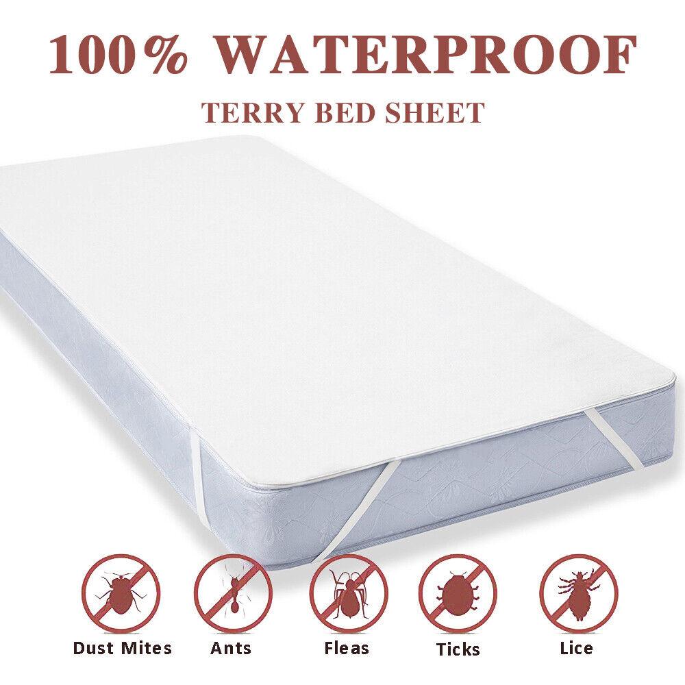 "Mattress Protector Bed Bug Barrier Mattress Pad // Waterproof King 76/"" x 80/"""
