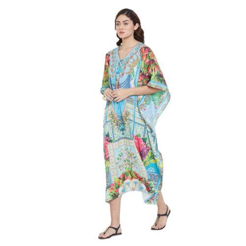 Women New Maxi Kaftan Plus Size Beach Caftan Digital printed Long Caftan Dress