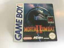 Gameboy Nintendo Mortal Kombat 2 II Boxed W/ Manual