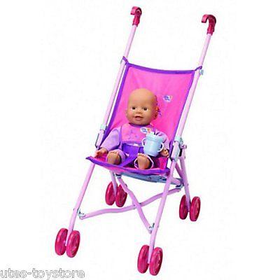 Premuroso Orig. Zapf >>> Baby Chou Chou Con Stroller E Accessori 1