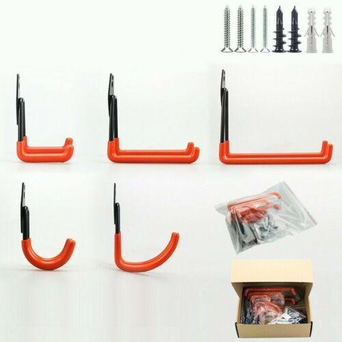6Pack Steel Garage Storage Utility Wall Hook Organizer Tools Bike Hanger Rack UK