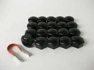 Ford-Fiesta-Focus-amp-C-Max-Mondeo-Wheel-Nut-Covers-19mm-Black-PE1021