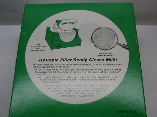 Schwartz Tuffy Milk Filters 100 6.5 inch
