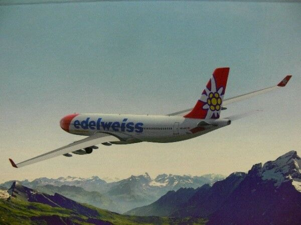 1 200 Herpa Wings Edelweiss Air airbus a330-300 558129