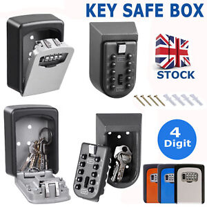 Outdoor High Security Wall Mounted Key Safe Box Code Lock Storage 4