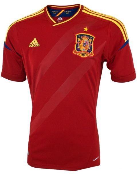 Adidas España Euro 2012 Hogar fútbol Jersey Camisa X10937