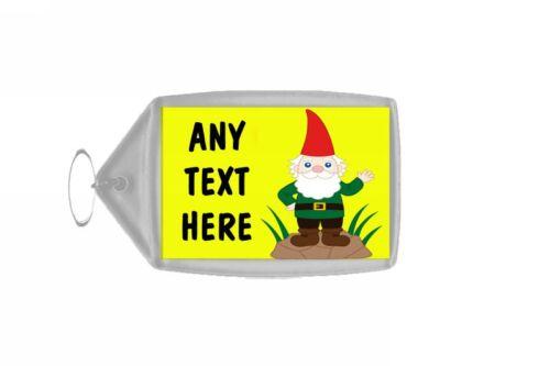 Garden Gnome Personalised Keyring