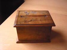 Vintage Wooden Sorrento Ware Cigarette Box Dispenser