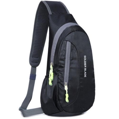 Herren Damen Crossbody Sling Bag Schulter Brusttasche Rucksack Sport Wasserdicht