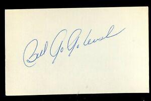 Bill Gogolewski signed autograph auto 3x5 index card Baseball Player 9419