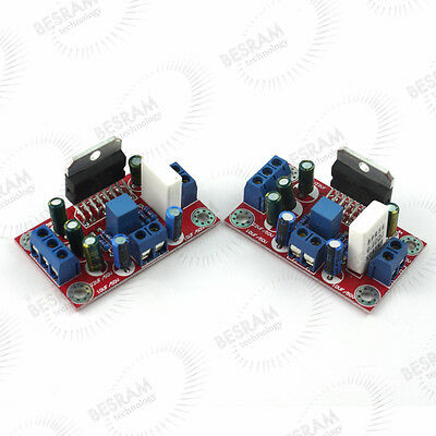 a pair of TDA7293 Amplifier Mono Board AMP Boards +/-12V to +/-50V