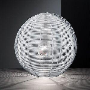 WOFI-lampara-de-MESA-Modena-1-luz-PLATA-MALLA-ALAMBRE-Bola-E27-Interruptor