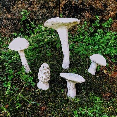Cement Mushroom Garden Decor Statue Artistic Rustic