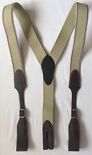 """Hickman Suspenders Belt Style Size L/45"""" Brown Leather Silver Buckle Western"""