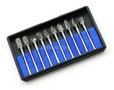 10 Carbide Bur Burr Dremel Rotary Die Grinding Engraver Engraving Drill Bit Tool