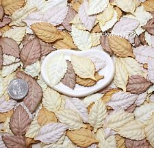 50 Leaves Brown Mulberry Paper Scrapbook Wreath Book Page Clipboard Frame Cards