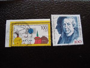 Germany-Rfa-Stamp-Yvert-and-Tellier-N-1304-1305-Obl-A3-Stamp-Germany