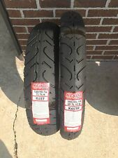 TWO MOTORCYCLE TIRE SET 100/90-19 FRONT 130/90-16 REAR KENDA K657 TOURING 6 PLY