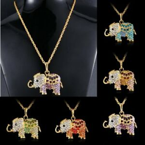 Fashion crystal rhinestone animal elephant long chain pendant image is loading fashion crystal rhinestone animal elephant long chain pendant aloadofball Image collections