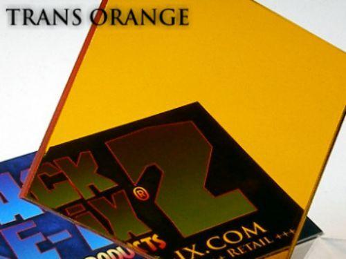 1 A4 Sheet Transparent Orange Acrylic Perspex Plastic 210mm x 300mm x 3mm One