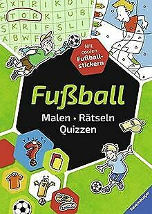 Fußball. Malen - Rätseln - Quizzen by Honnen, Falko, ... | Book | condition good