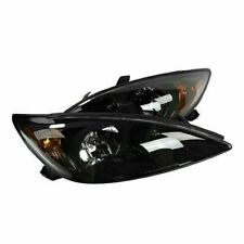 Headlights Assembly For 02 04 Toyota Camry 2002 2003 2004 Pair Headlamps Black
