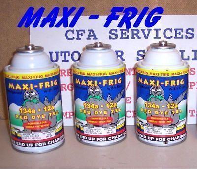 3 CANS=3.3lb REFRIGERANT 12//1994 /& OLDER R12 SYSTEMS COMPATIBLE MAXI FRIG 12a