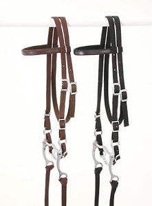 BROWN Nylon Western Leather Overlay PONY Size Complete Bridle New Tack BARGAIN