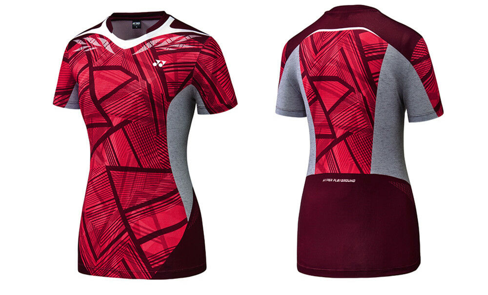 Yonex F W Collection Women's Badminton Round T-Shirts Red Clothing NWT 73TS026F