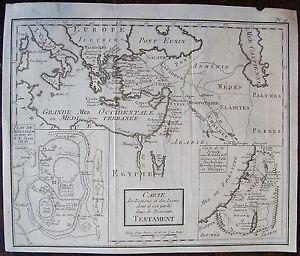 100% Vrai Carte Des Regions Et Des Lieux Dont Il Est Parle Dans Le Nouveau Testament. Cart