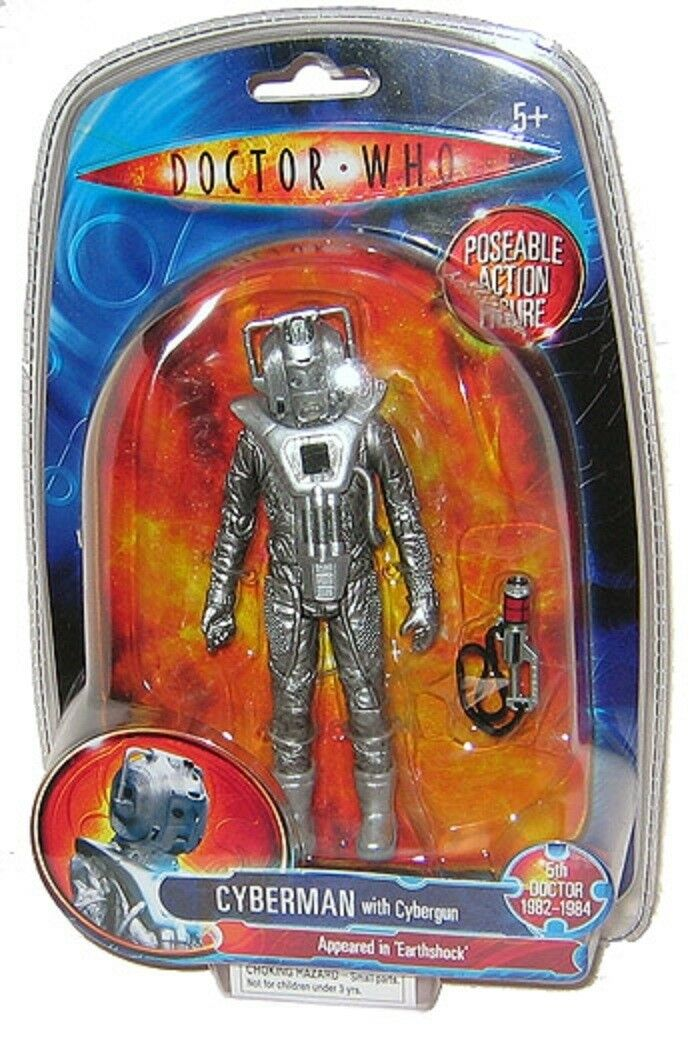 Dr Doctor Who Earthshock Cyberman Character Options 5  range NEW BOXED OOP