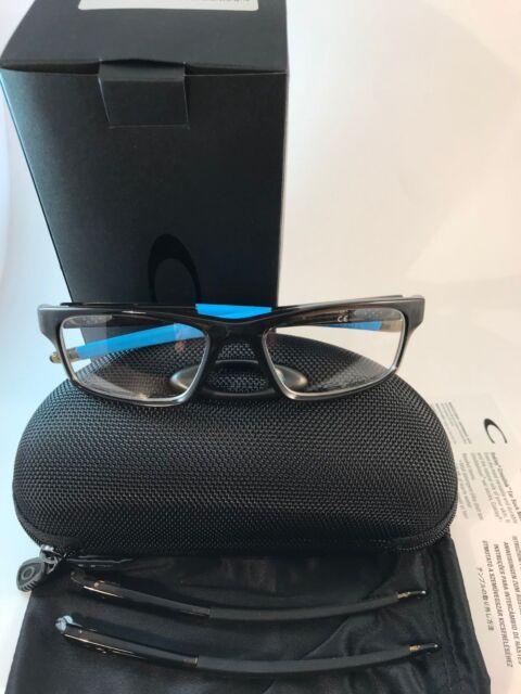 7aaead9167 New Auth Oakley Eyeglasses OX 8037 1754 crosslink Pitch polished bark blue  NWT