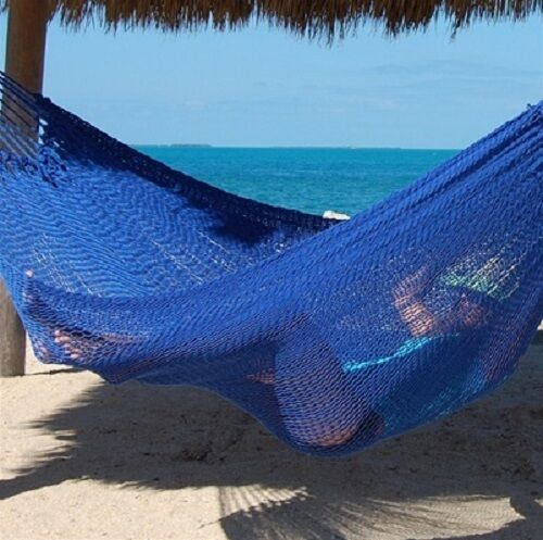 Portable Mayan Rope Mexican Hammock 2-3 person Family JUMBO Heavy Duty Polyester
