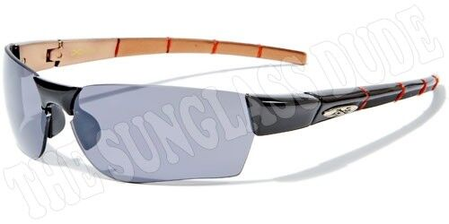 Sunglasses New Metal Sport Shades Wraps Xloop UV400 Men Women Black Blue XL283B