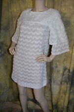 vtg 60s 70s JANTZEN white BEACH dolly dress mini COVER UP puff sleeve S M