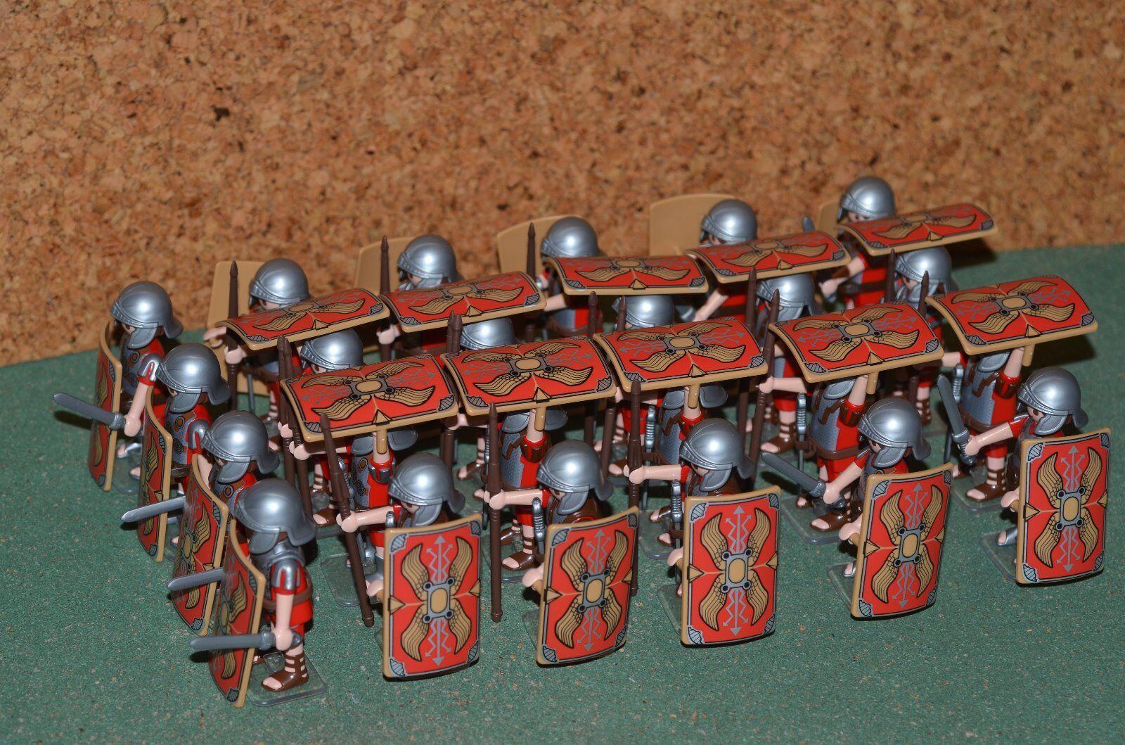 Playmobil, legión romana formación tortuga, pilum. x24 unidades. Legionario.