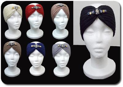 Luxus Stirnband Hochwertige Turban Ohrwärmer Kopfbedeckung Haarband Strass Paris