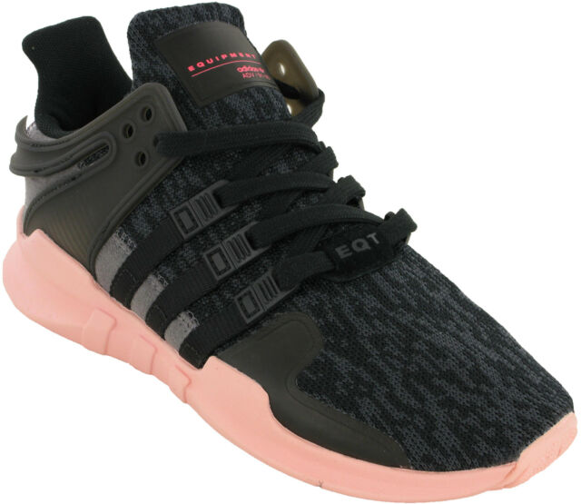 46010002844e Adidas Equipment EQT Support Adv Womens Girls Lace Up Black Running Trainers