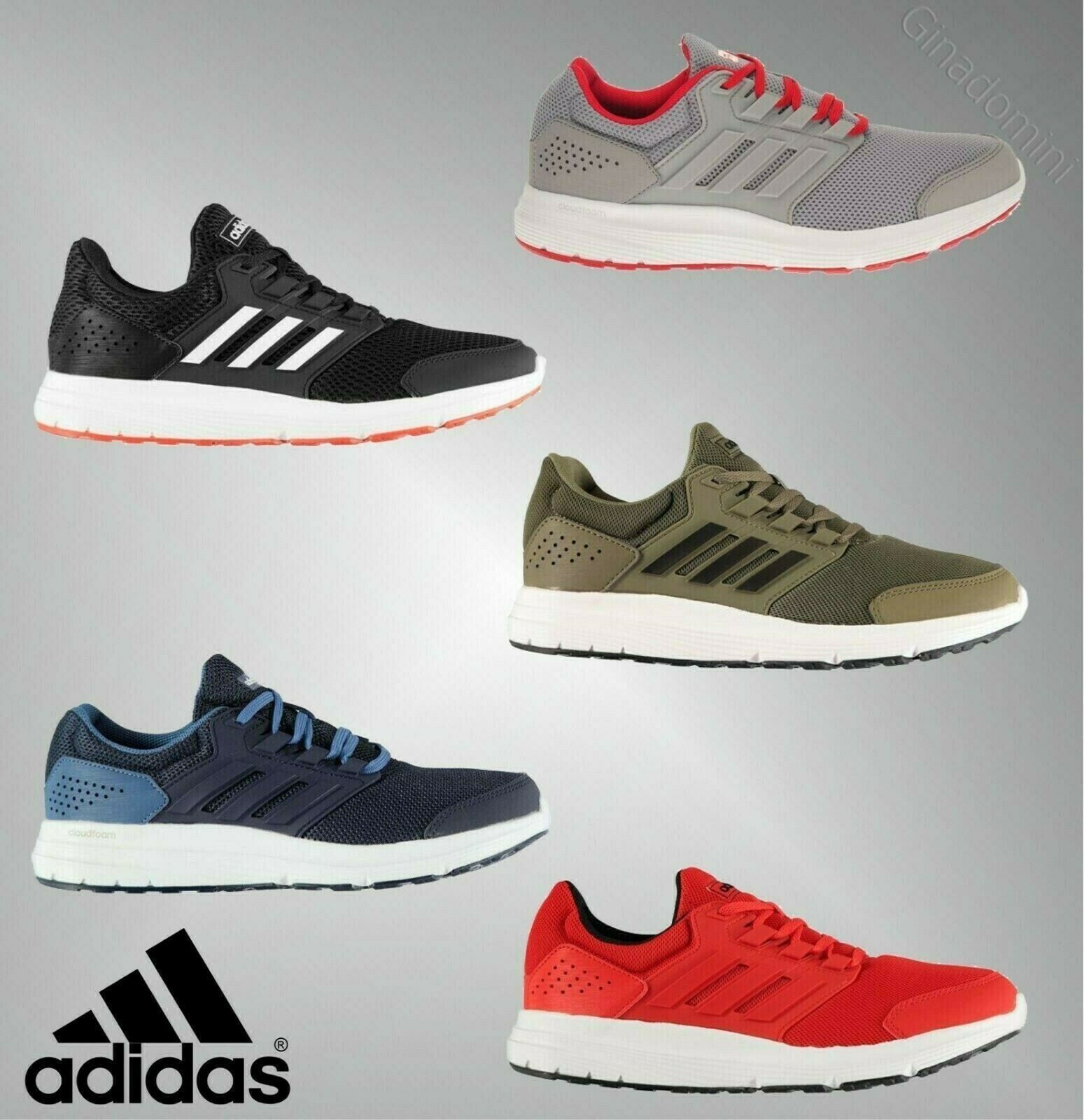 Trainers Cloudfoam Fastening Lace Shaped 4 Galaxy Adidas