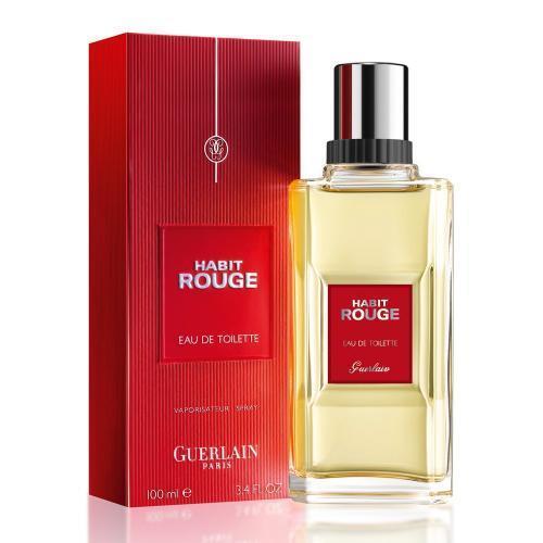 Guerlain Habit Rouge Cologne for Men 100ml EDT Spray (New Packaging)