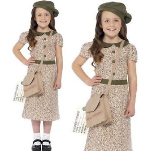 Girls 40s 1940s Child Costume Childrens Fancy Dress Childs Outfit by Smiffys New