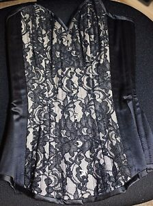 Bettie Page Inspired Secrets in Lace Black & Lace Corset-Size 22 New with Tags