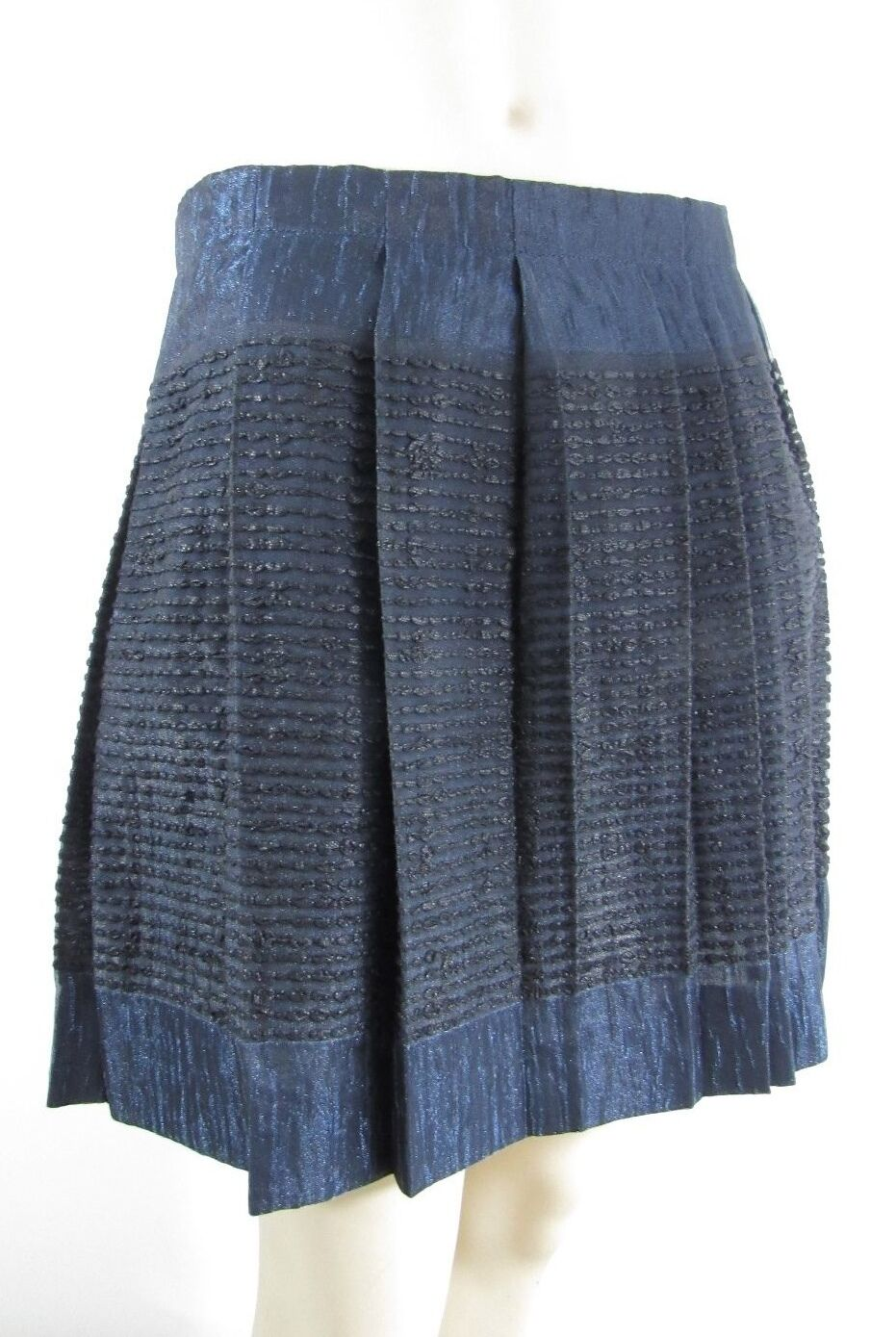 NWT J.CREW COLLECTION TEXTURED SHIMMERY PLEATED SKIRT SIZE 4