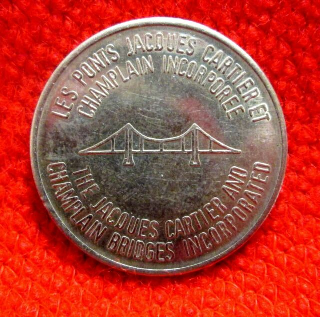 Jacques Cartier and Champlain Bridges Token Quebec Canada hsu1