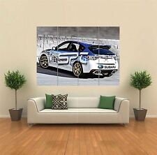 Poster of Subaru WRX STi on Enkei Wheels Giant HD Huge 54x36 Inch Print 137x91cm