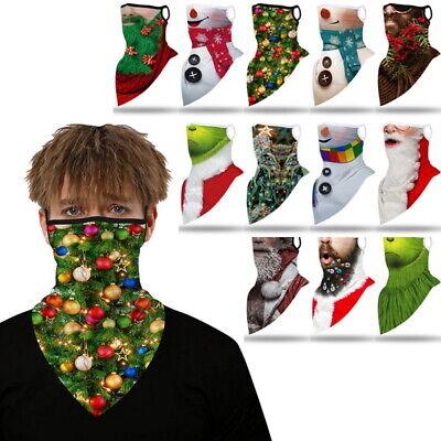 Christmas Face Mask Balaclava Half Face Mask Cycling Neck Gaiter Tube Scarf XMAS